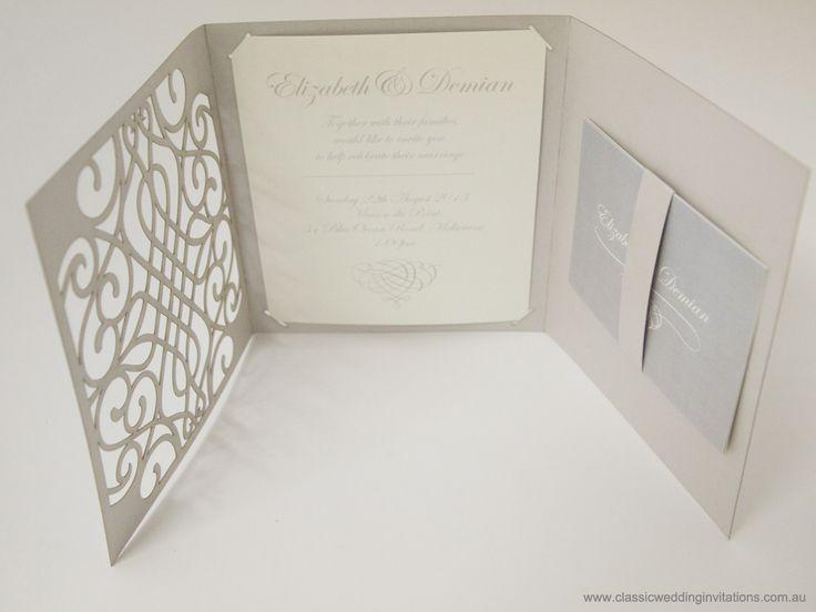 Wedding package laser cut invites