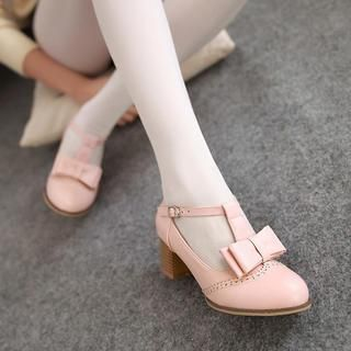 Buy '77Queen – Bow-Accent Mary Jane Pumps' with Free International Shipping at YesStyle.com. Browse and shop for thousands of Asian fashion items from China and more!