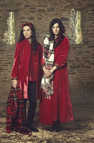 Christmas Red and Tartan ~ Cabbages and Roses.