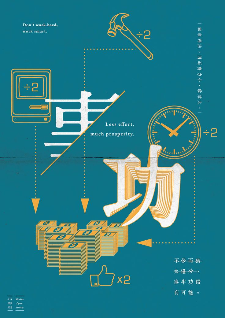 Chinese saying, present with graphic and typography.                                                                                                                                                                                 More