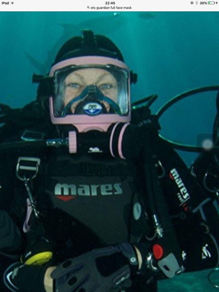 Another pink guardian full face mask scuba girl diving