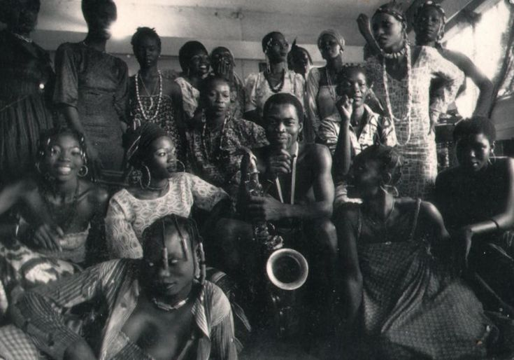 Fela Kuti & some of his wives. Yes, some of them. I believe he had about 26 wives in all.