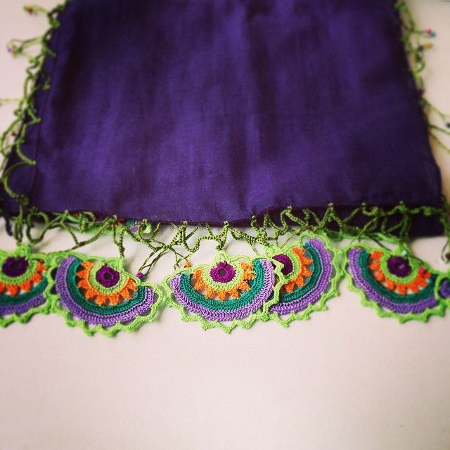 #efeoyası #fular #scarf #mor #purple #elemeği #handicraft #birgi #pamuk #cotton #turkey #ege