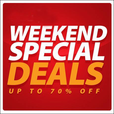 #Weekend special #deals upto 70% Off. bit.ly/1mTTdQ4