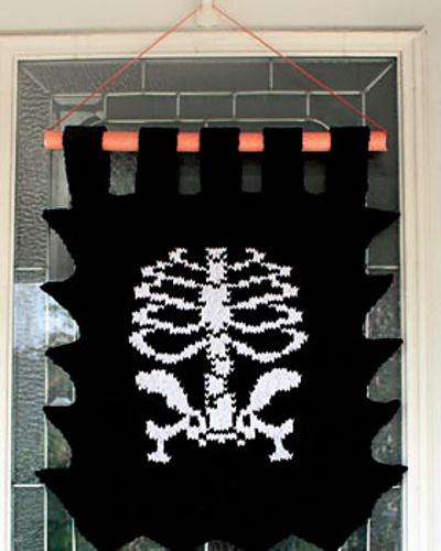 Skeleton Knitting Pattern : Ravelry: Skeleton Banner pattern by Lily / Sugarn Cream Free Knitting ...