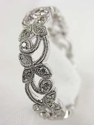 edwardian style diamond wedding ring rg 1927 - Vintage Style Wedding Rings