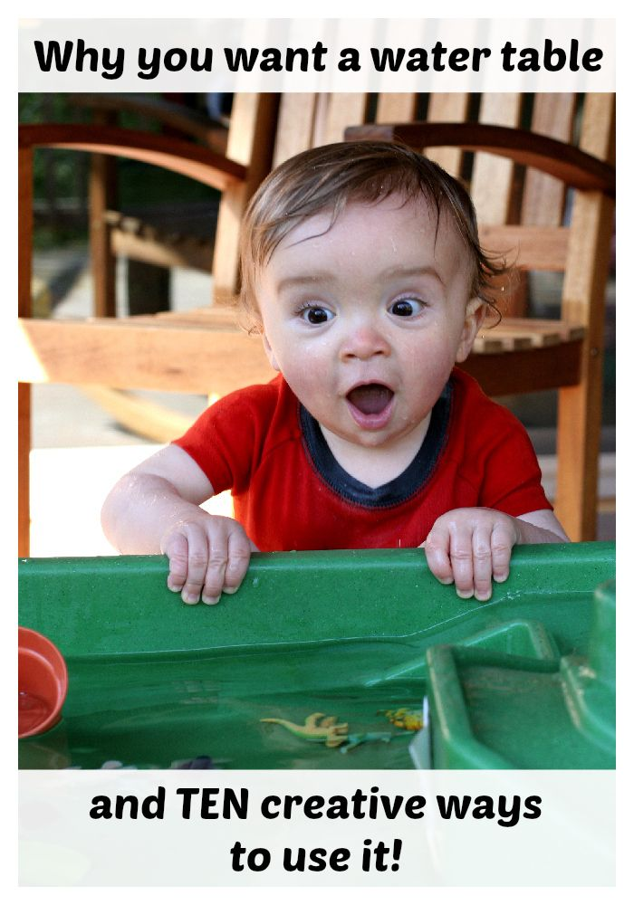 Why You Want a Water Table and TEN Creative Ways to Use it  (illustrated by my baby's amazing faces) FUN AT HOME WITH KIDS