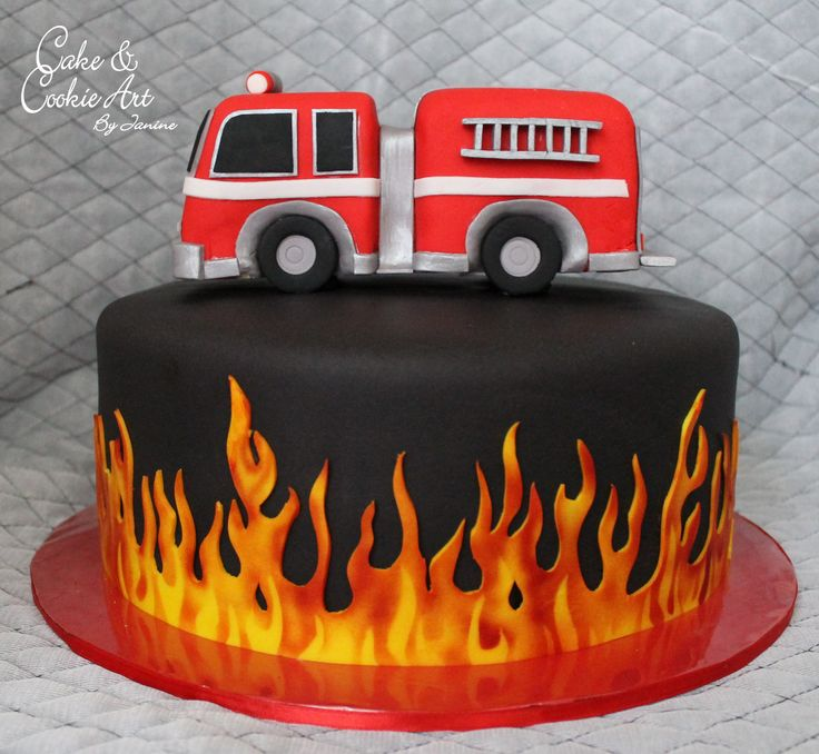 Janine S Cake Art : Cake for a firefighter Cakes by Cake and Cookie Art by ...