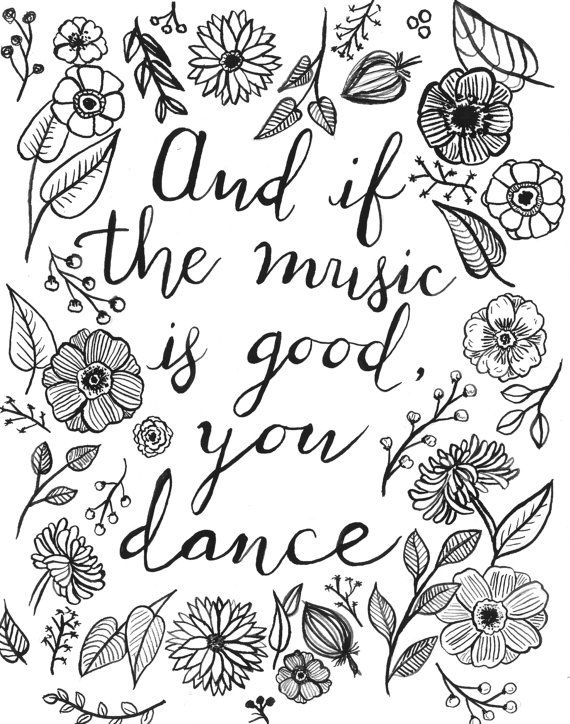 And if the music is good - Watercolor Print on Etsy
