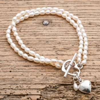 Victoria Jill Double Strand Ivory Rice Pearl Bracelet