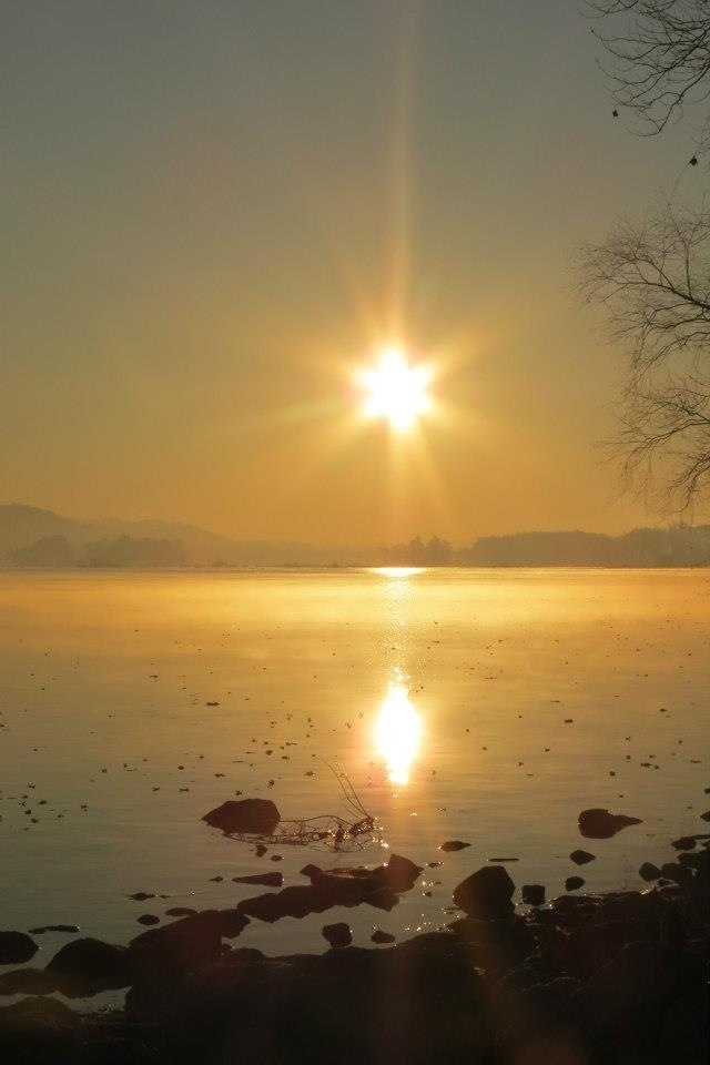 The sunrise by Susquehanna River