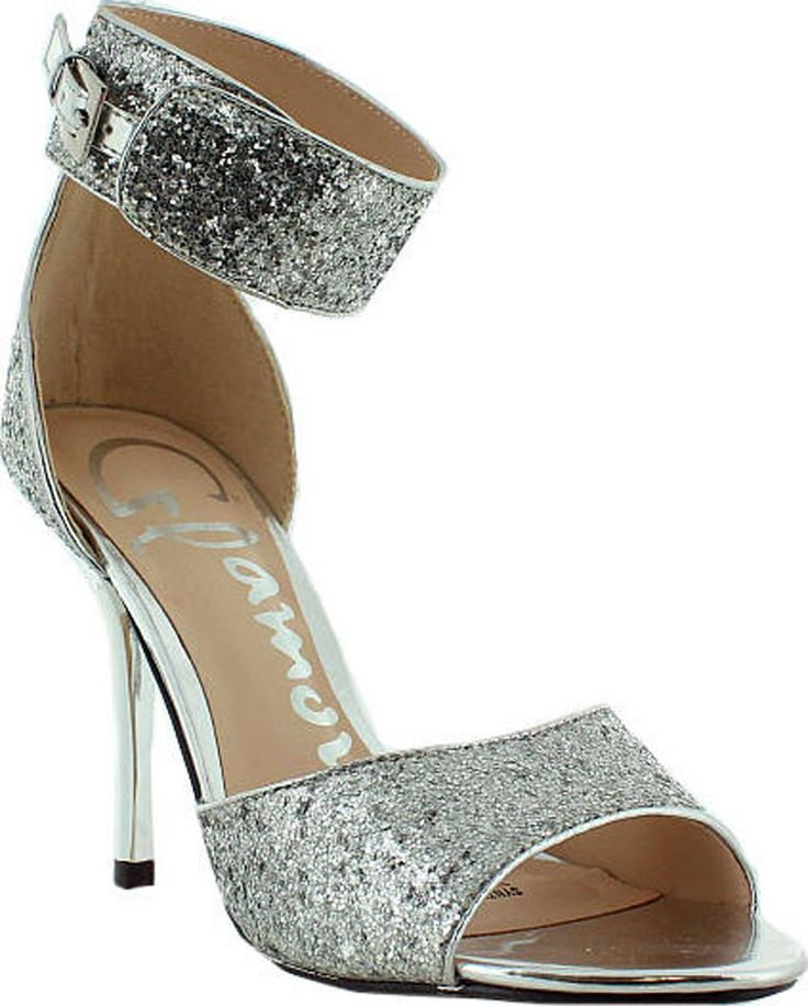 Emely | The Shoe Shed | Emely, Size, Glitter, Heel, Glamour, Silver | buy womens shoes online, fashion shoes, ladies shoes, men