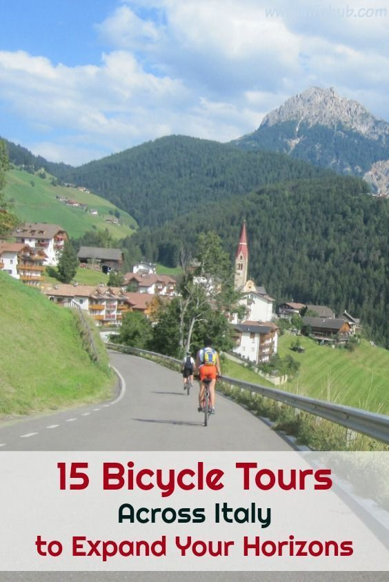 Bicycle tours in Italy.  Whether you are an established cyclist looking for a great challenge or just a tourist seeking to see the country from a different perspective, these biking tours will cater to your needs all the same.