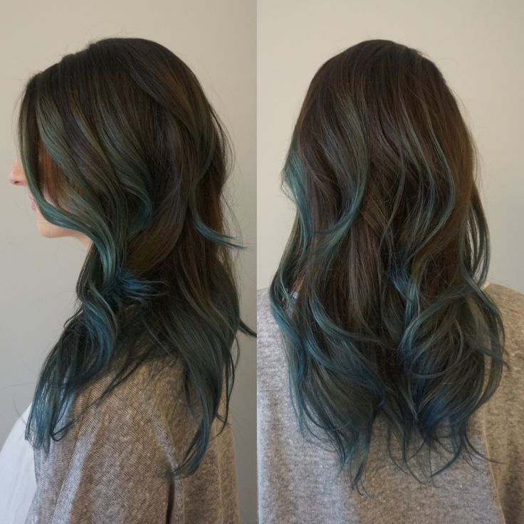 brown and blue balayage - Google Search