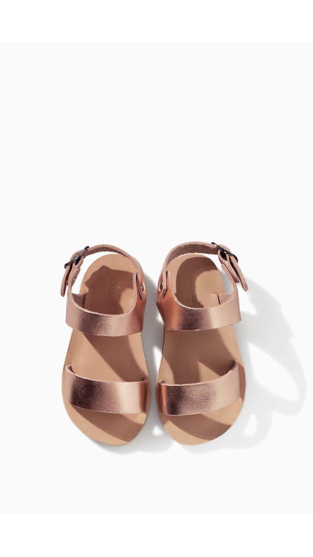 Zara baby spring 2014 | bronze sandals.
