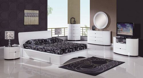 Unique Wood Modern Master Bedroom Furniture Set black and white contemporary bedroom furniture sets