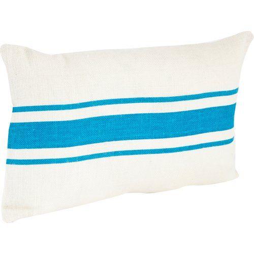 Found it at Wayfair - Fairfax Striped Design Jute Throw Pillow