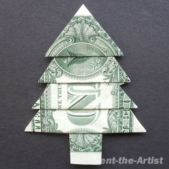 Dollar Bill Money Origami CHRISTMAS TREE | $$$$$$ origami ... - photo#2