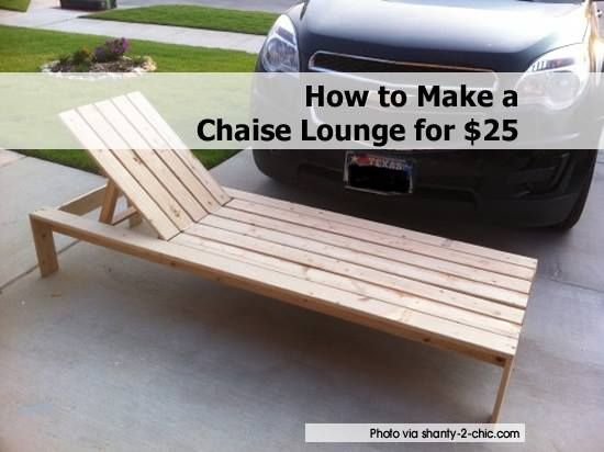 How to make outdoor chaise lounge chair woodworking for Build outdoor chaise lounge