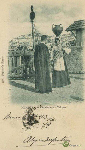 Coimbra - O Estudante e a Tricana em 1903