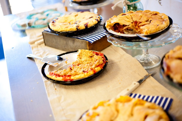 Homemade pies  Strawberry Rhubarb Pie  Nautical Bridal Shower  Crate & Barrell  Red, White, & Blue  Weddings  Decorating Ideas  http://dominojr.wordpress.com/