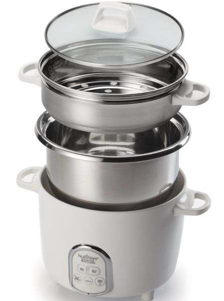 The Aroma NRC-687SD is a Stainless Steel 14 cup rice cooker and food steamer. It includes a rice pot, steam pot and tempered glass lid.Click to read more and to purchase. http://www.veggiesensations.com/collections/rice-cookers-and-slow-cookers/products/aroma-nutriware-14-cup-digital-rice-cooker-nrc-687sd