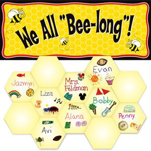 Bee Themed Classroom - for you, Stacy! You could totally make the honeycomb yourself ....