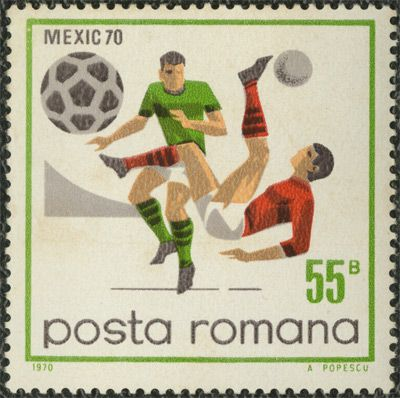 SO MUCH PILEUP: Philately Fridays: Romania, 1970 Set of four beautiful stamps from Romania, commemorating the 1970 FIFA World Cup.