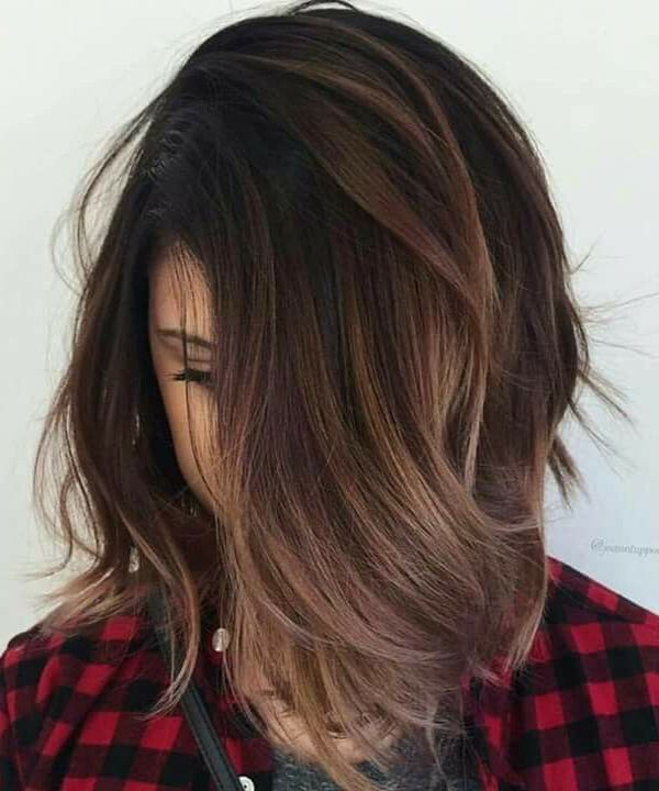 when i see all these hairstyles with nice fall hair color it always makes me jealous i wish i could do something like that I absolutely love this fall hair color so pretty! Perfect!!!!!
