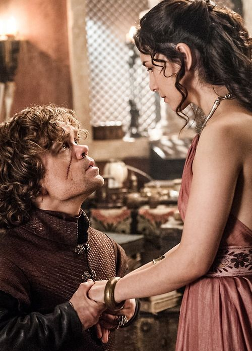 Peter Dinklage as Tyrion Lannister and Sibel Kekilli as Shae in Game of Thrones