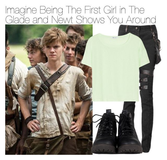 Imagine Being The First Girl in The Glade and Newt Shows You Around by xdr-bieberx on Polyvore featuring T By Alexander Wang and Paul Brodie