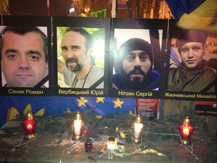 Анатолий Яворский 31 січня 2014 Евромайдан. Стена памяти