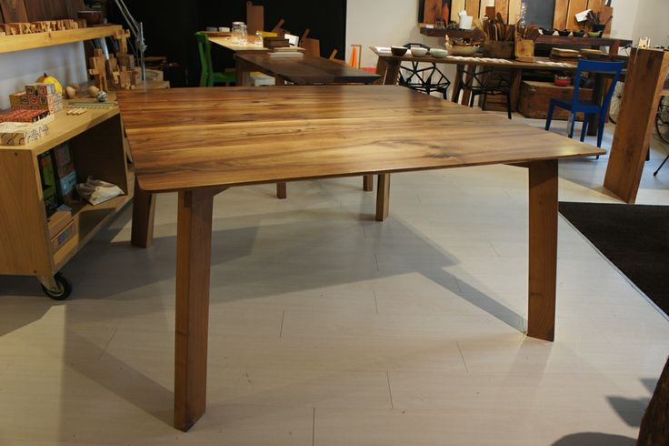 Square walnut table