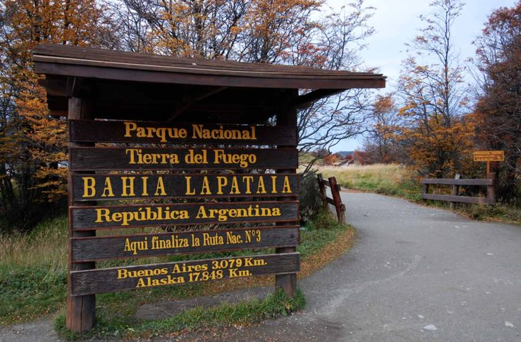 """Lapataia Bay, located in #TierraDelFuego National Park 🌲🏔️🌞, is famous not only for its natural beauty but for being the place where all the #routes of #America come to an end, becoming a symbol of the """"end of the world"""" 🌍 . Native #forests, marine #coast, and a magical view await you to contemplate the end of #Argentina 🇦🇷. #landscape #Ushuaia #mountains #lakes #nature #adventuretrip"""