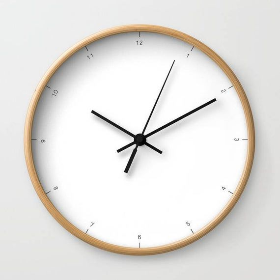 Wall Clock With Small Numbers Of Hours Very Chic And Modern Etsy Minimalist Wall Clocks Modern Clock Wall Clock Modern