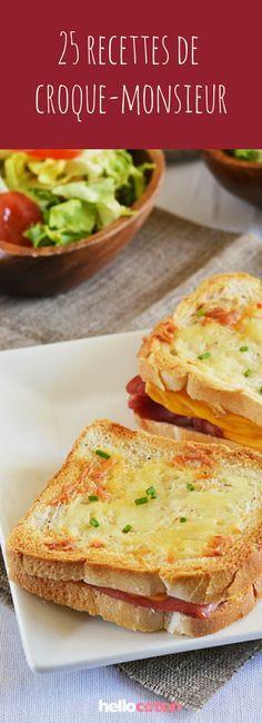 25 recettes de croque-monsieur et croque-madame, faciles et rapides à faire, parfaites pour les soirs de flemme ! #cuisine #recettes #croquemonsieur #recettefacile