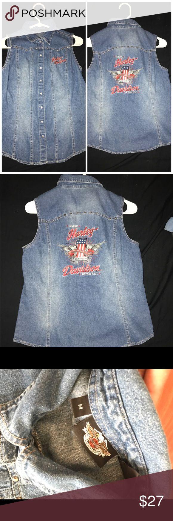 Harley-Davidson Jean Vest This vest is just awesome! Harley-Davidson Jackets & Coats Vests