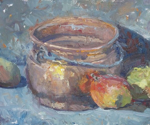 Copper Pot and Mangoes by Brent Jensen