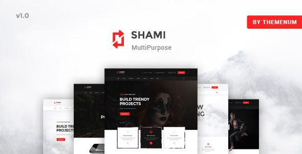 SHAMI - A Stunning and Creative Multipurpose HTML Template . SHAMI – A stunning and intuitive HTML Template . SHAMI supports 6 homepage + Woocomerce layouts in order to match with any user's purposes. This is one of the best templates that you don't miss out. The design comes with 06 modern home pages specially designed for business, creative agency,