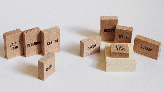 Minimal-Krippe: Jesus' Geburt als kubistisches Hipsterspielzeug