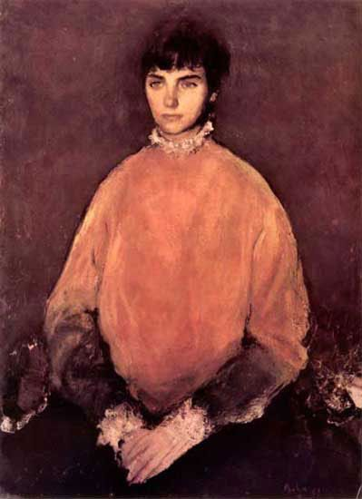 Corneliu Baba (1906-1997, Romania) - Portrait of a girl