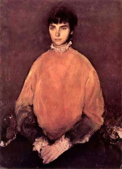 Corneliu Baba (1906-1997, Romania) - Portrait of a girl