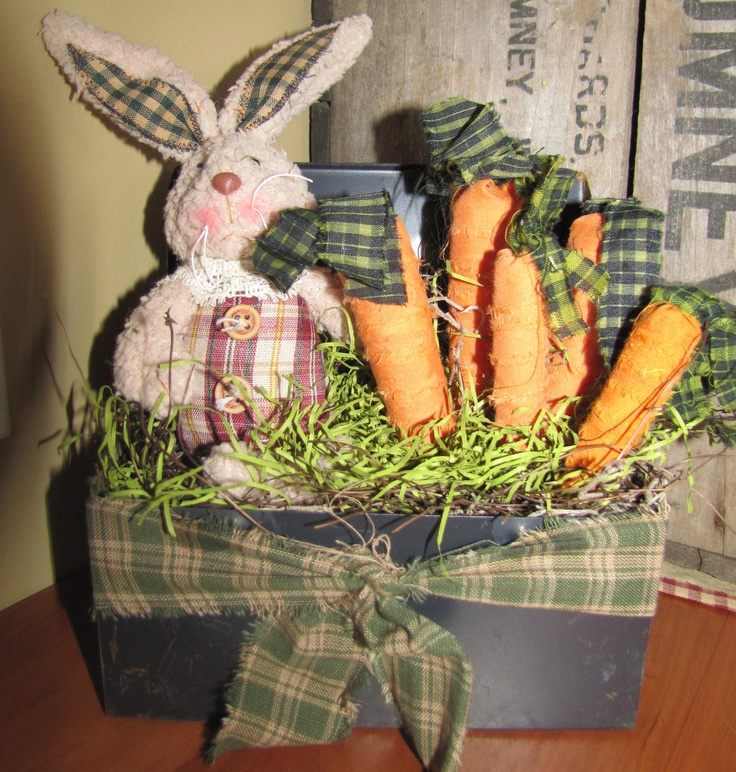 Spring Time Lunch Box | Primitive Easter and Spring ...