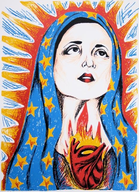 DeAnn Acton,  Guadalupe, 1995  Screenprint