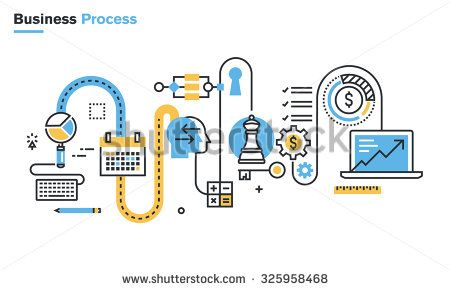 30 best bring your ideas to life images on pinterest app flat line illustration of business process market research analysis planning business management ccuart Gallery