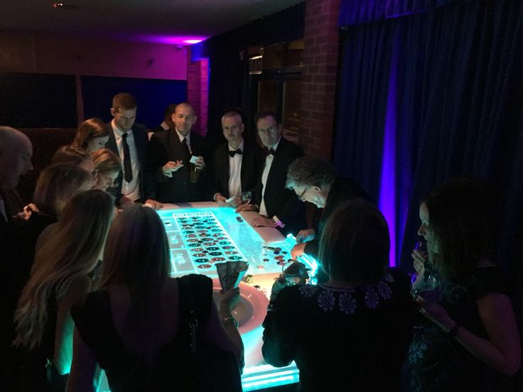Fun LED casino table for the guests to enjoy