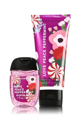 Love Peace Peppermint PocketBac & Hand Cream Duo - Soap/Sanitizer - Bath & Body Works