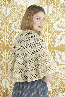 Lavish Lace Shawl / Emily Shawl Half Circle Shawl Free Crochet Pattern