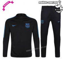 Ensemble De Survetement Homme Foot FC Barcelone Noir/Bleu 2016 2017 Nouveau | maillots-sport