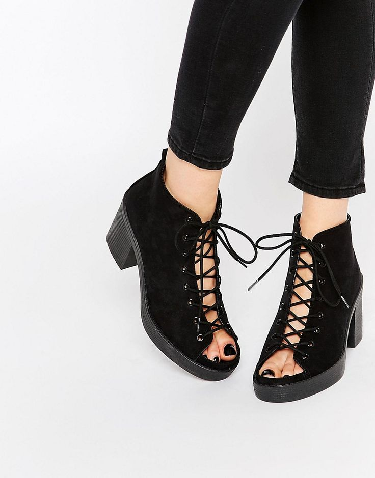Image 1 ofASOS TIGER Lace Up Heeled Sandals